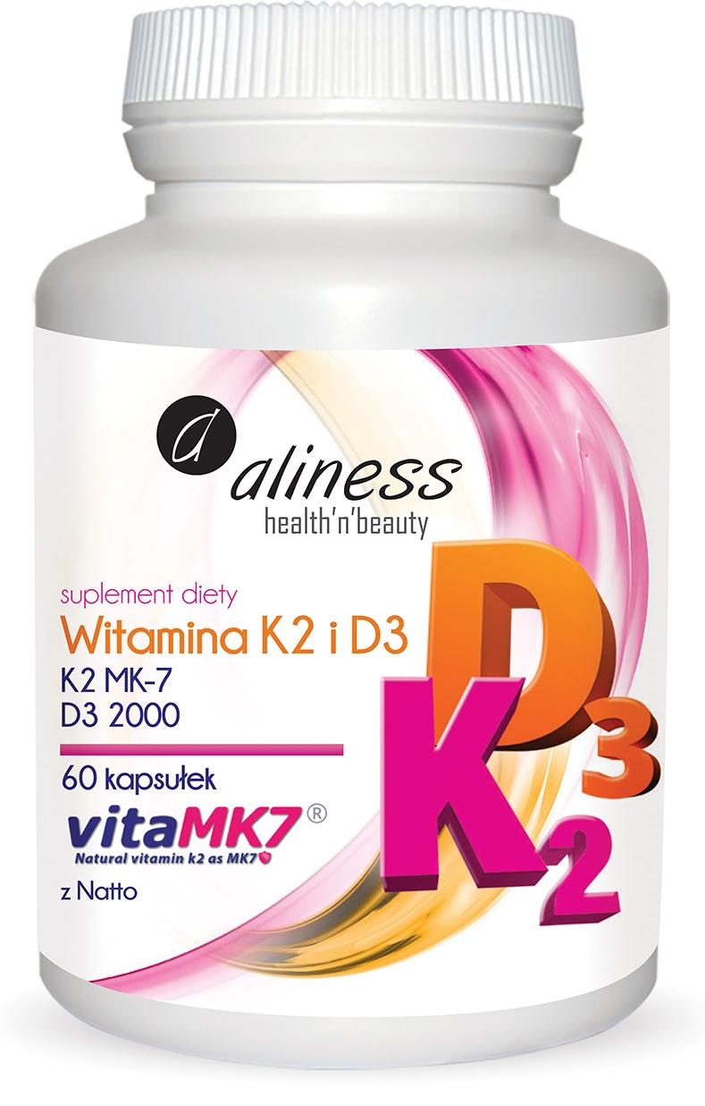 ALINESS WITAMINA K2 MK-7 natto + D3 2000jm NATURAL