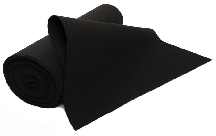 Filc CZARNY 4 mm 400 g/m2 - techniczny - 1.5 m2
