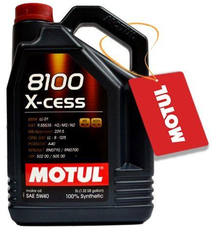 OLEJ MOTUL 8100 X-CESS 5W40 5L 5W-40 + GRATIS