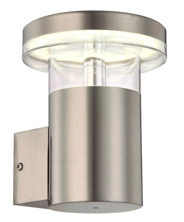 LED Nástenné svietidlo Vonkajšie Fasády LED 6W IP44 Inox