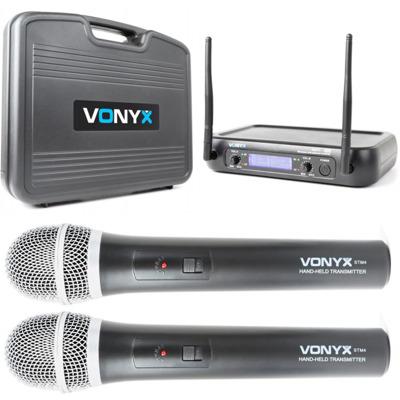 2x bezdrôtový mikrofón + prijímač Vonix WM73
