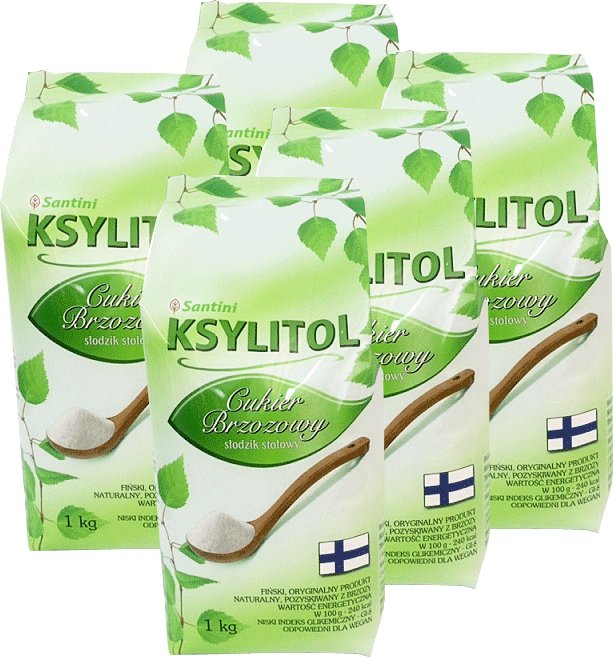 Item Xylitol, birch sugar - 5x1kg pack - Santini