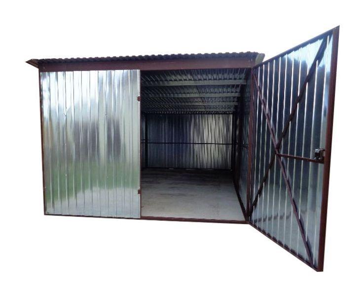 гараж железный 3x5 жесть СТРОИТЕЛЬСТВО Гаража из листового металла