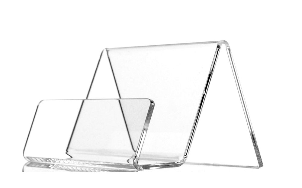 Item Stand for business cards, business card HOLDER Plexiglass / F-VAT