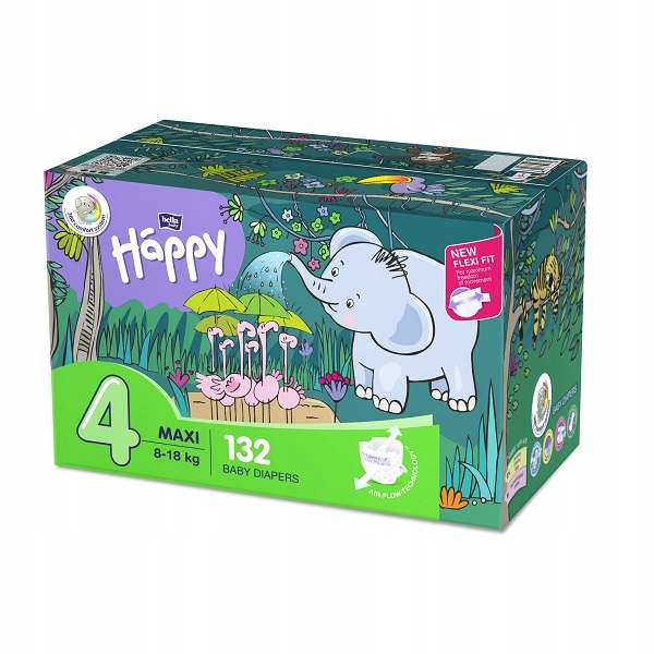 Подгузники Bella Happy Maxi Flexi Fit BOX 132 шт.