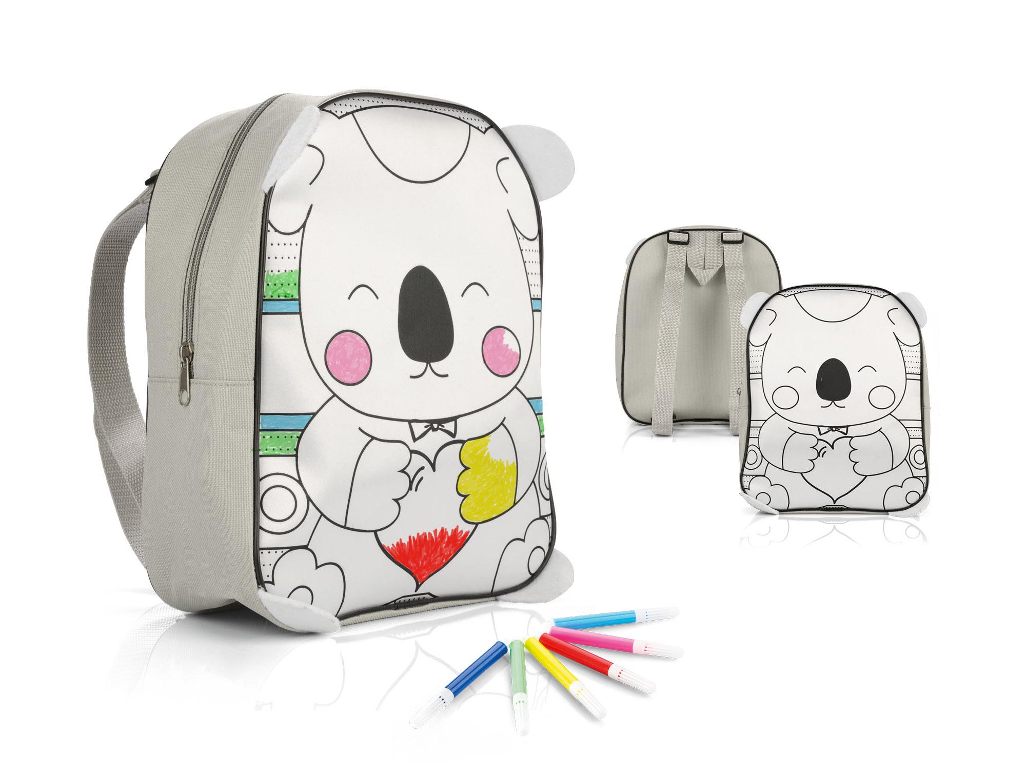 Prezent dzień dziecka plecak do kolorowania pisaki