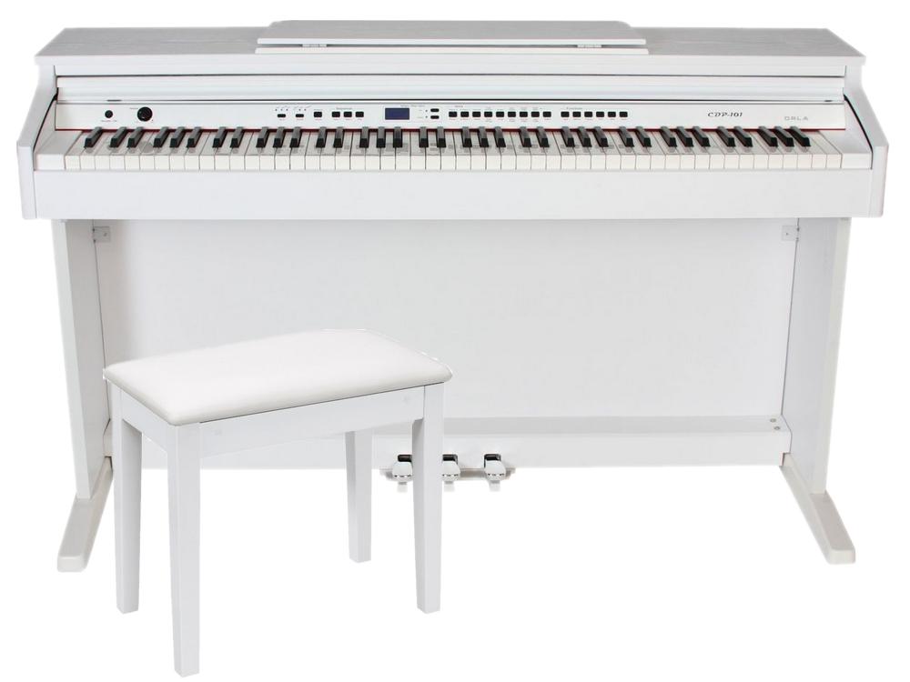 Item ORLA CDP 101 WHITE MATTE DIGITAL PIANO + BENCH