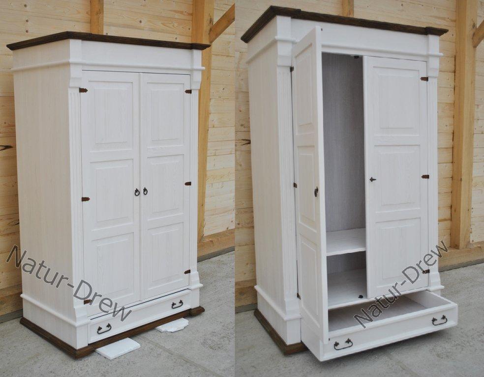 Šatníková skriňa 10 (2-dverová) drevená, drevená, retro, rustikálna