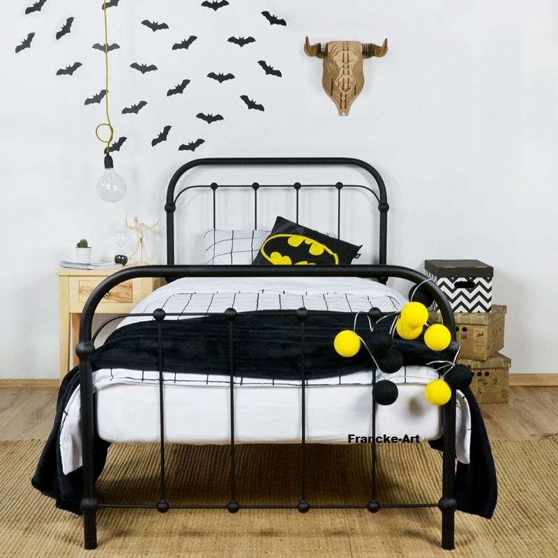 łóżko Metalowe Kute Babunia 120x200 Czarne