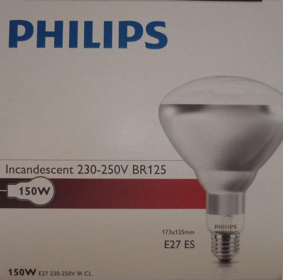 Žiarovka lampy Knock Radiátor 150W Philips Biela