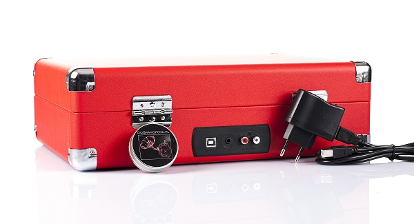 Gramofon w walizce akumulator, głośniki, Bluetooth