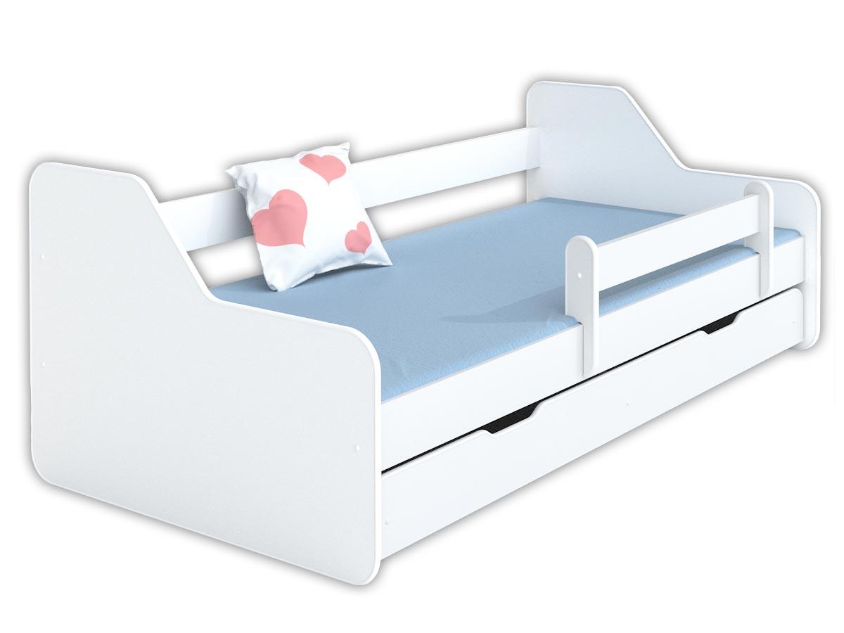 Купить Кровать ДИОНА 160x80 с ящиком и матрасом+перила на Otpravka - цены и фото - доставка из Польши и стран Европы в Украину.
