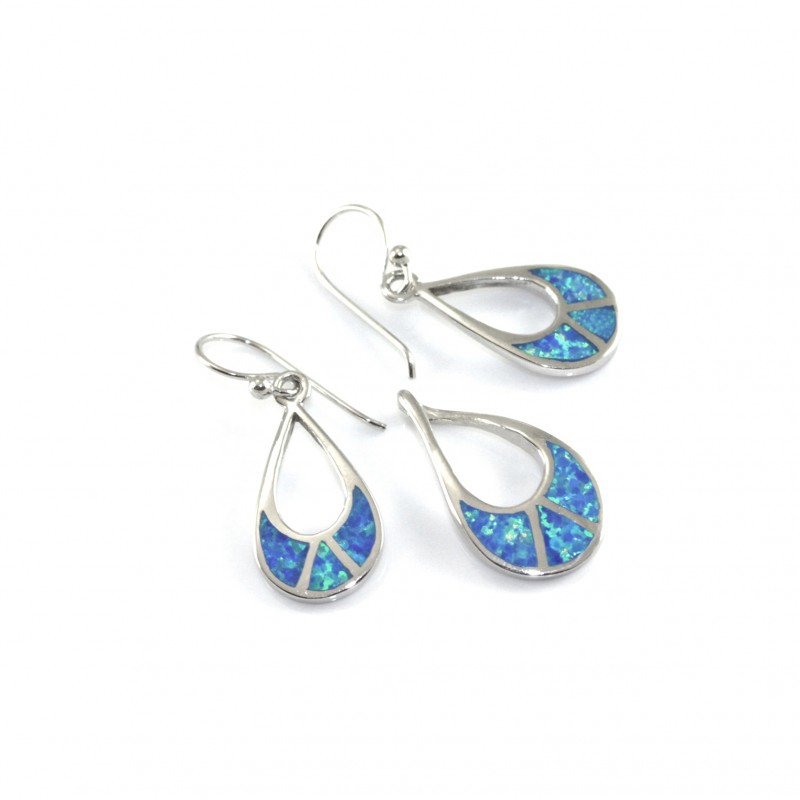 Súprava striebra s opal blue