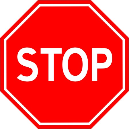 Nálepka B-20 Stop Sign 15 cm