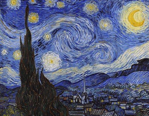 Картина Звездная ночь - Винсент Ван Гог - 90x70