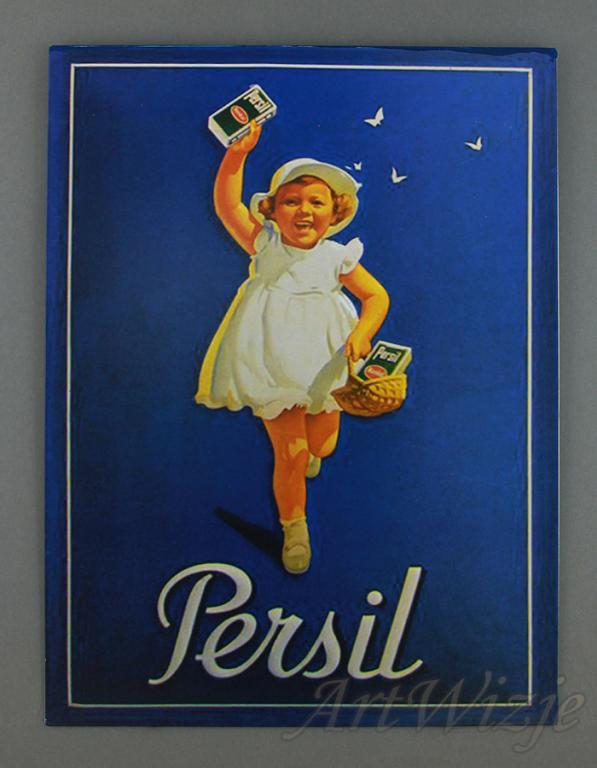 PERSIL reklama retro ornament pre školy plagát