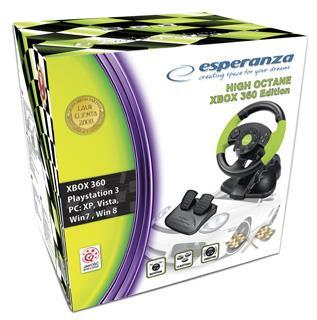 РУЛЕВОЕ КОЛЕСО С ВИБРАЦИЕЙ ESPERANZA PC PS3 XBOX 360 Код производителя EG104