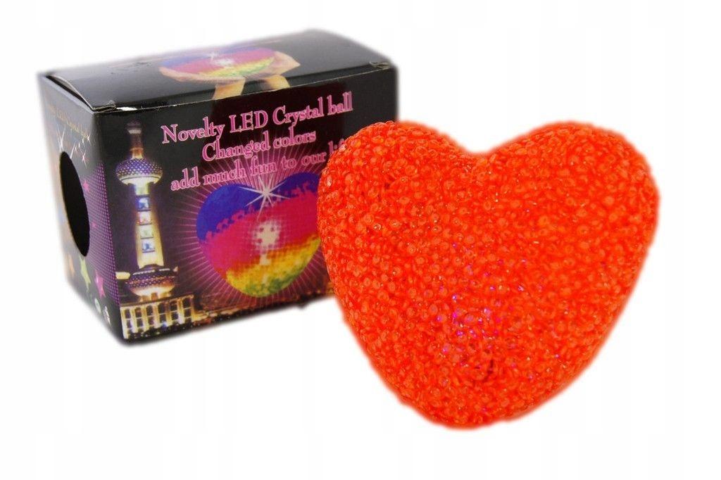 Srdce žiariace LED darček pre Valentína 12cm