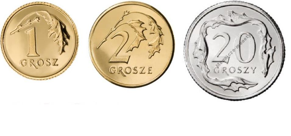 1,2,20 гроша 1997 год набор из 3 монет