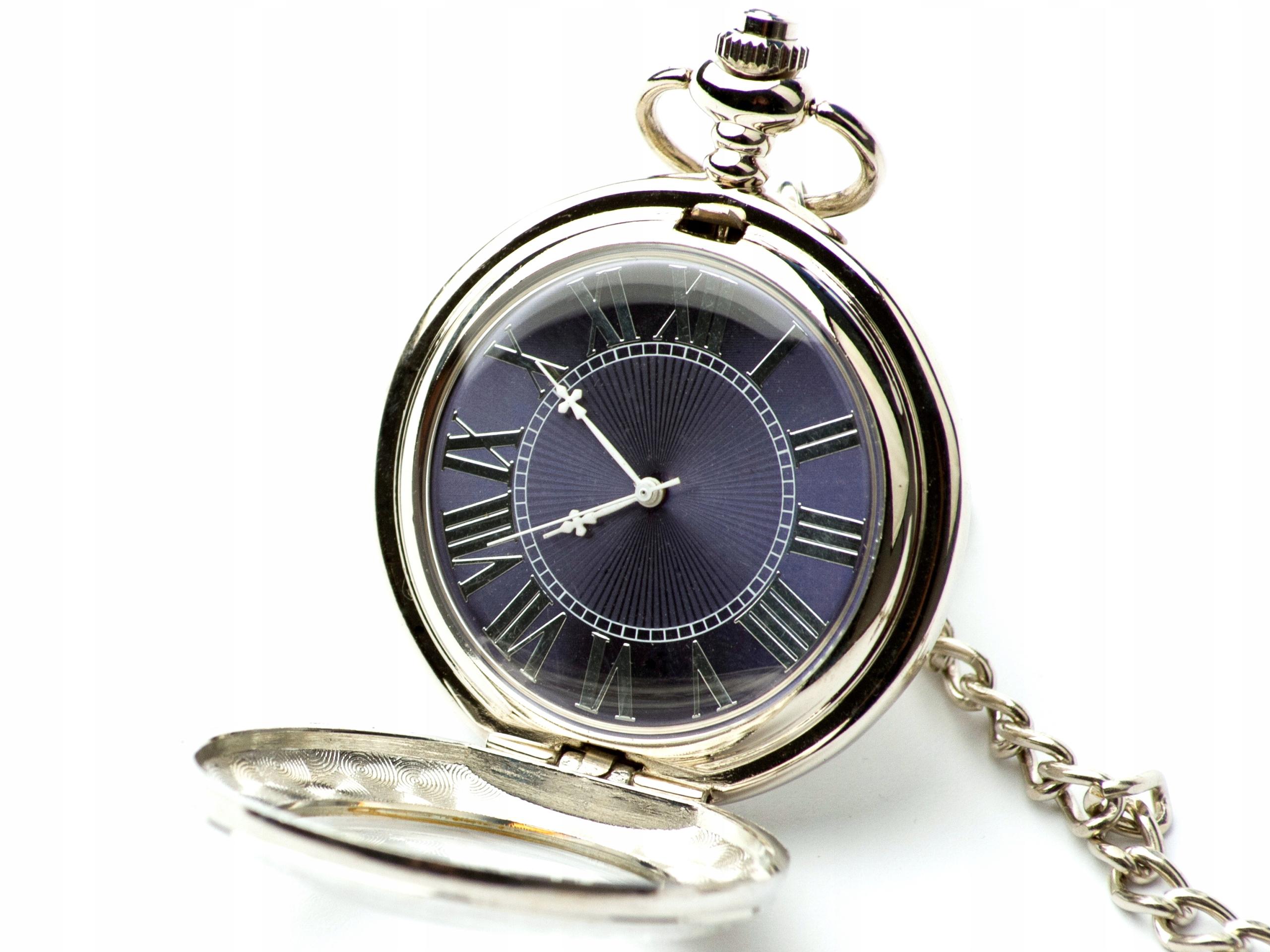 Zegarek kieszonkowy na łańcuszku dewizka JAKOŚĆ