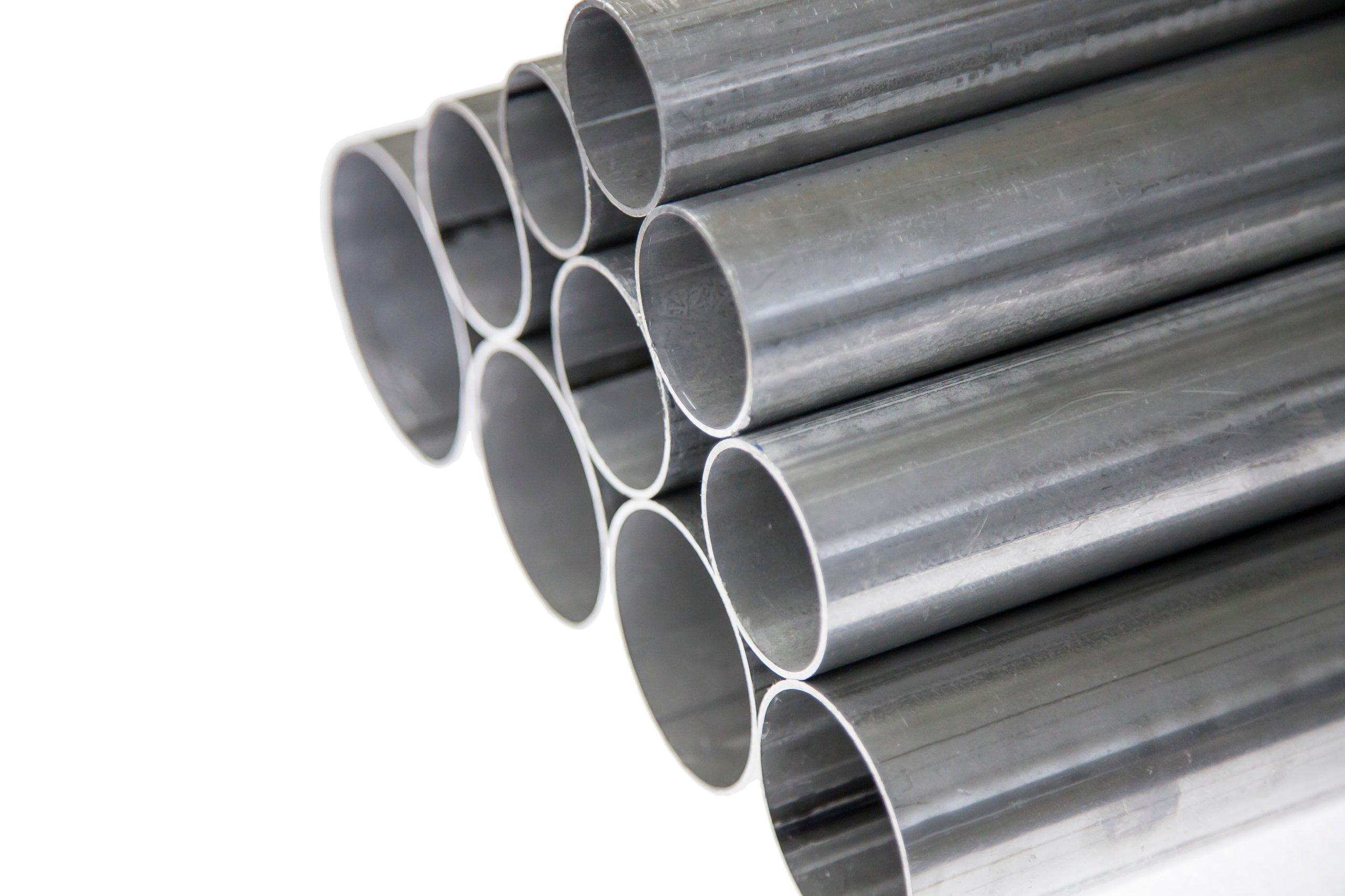 Алюминиевая резка прямой трубы размером 55 мм