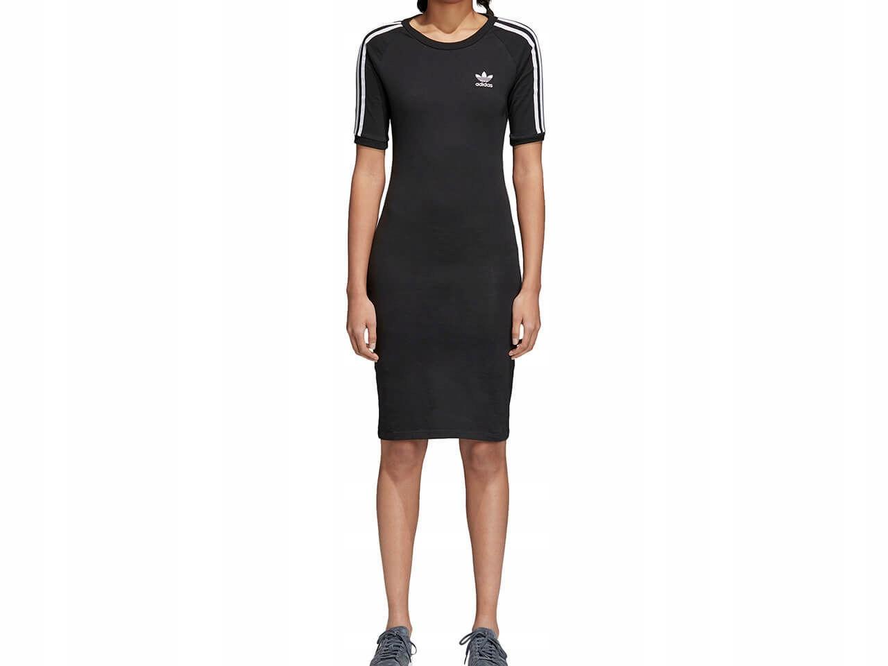 Sukienka adidas originals dress 3 stripes black (cy4748) 40 black