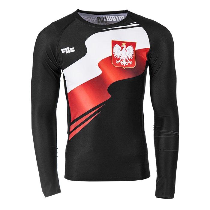 Pit Bull Rashguard tričko Poľsko LS Black R. XL