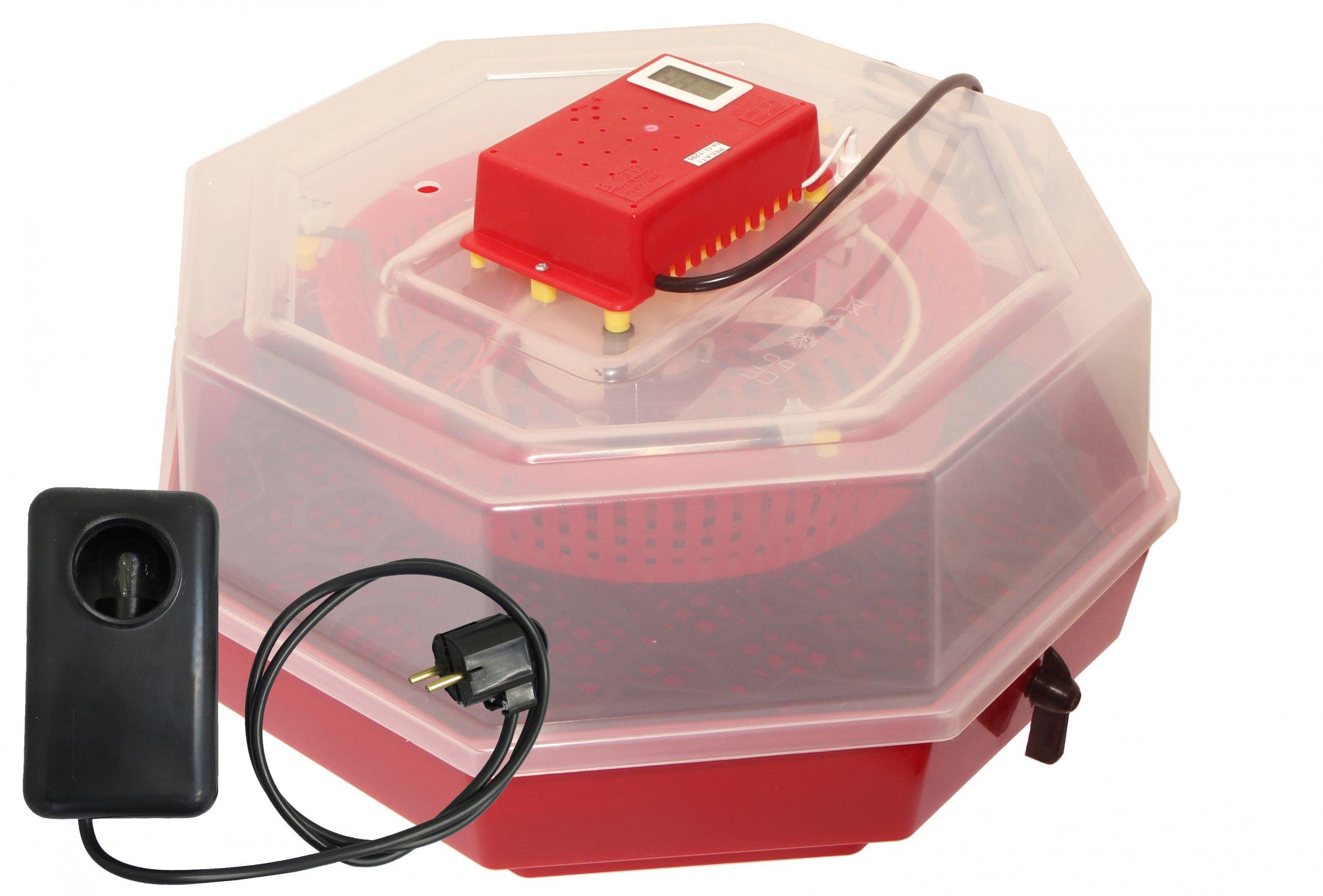 Inkubator klujnik wylęg 60 jaj LCD+HIGRO+OWOSKOP!
