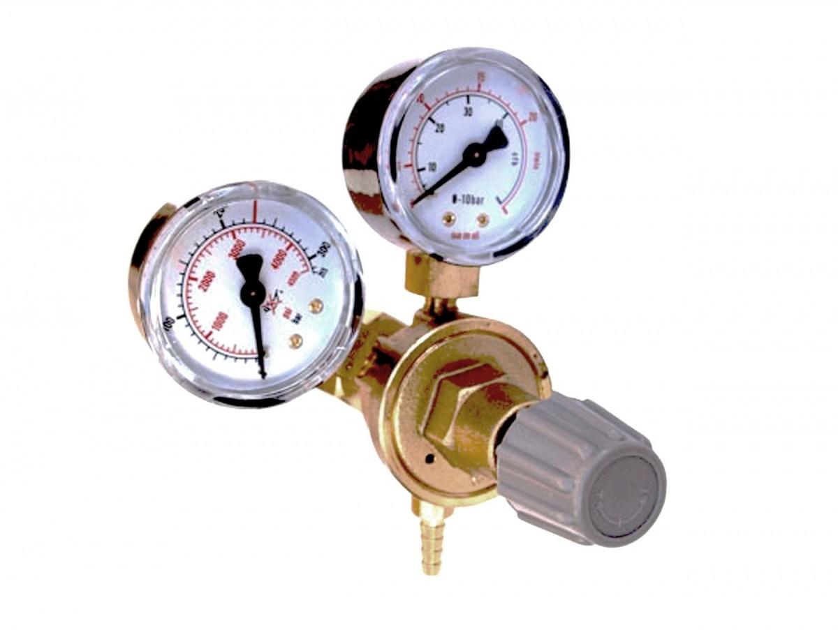 TCO MINI CO2 redukčný ventil s DVA manometre +rúry