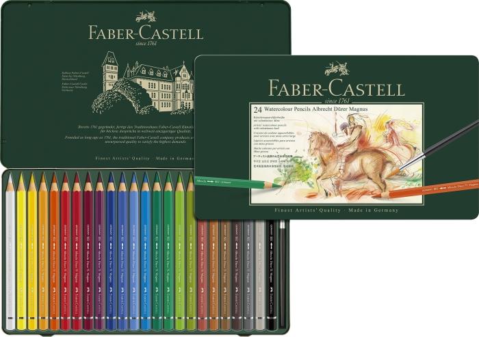 Akvarelové pastelky FABER-CASTELL Durer Magnus 24K