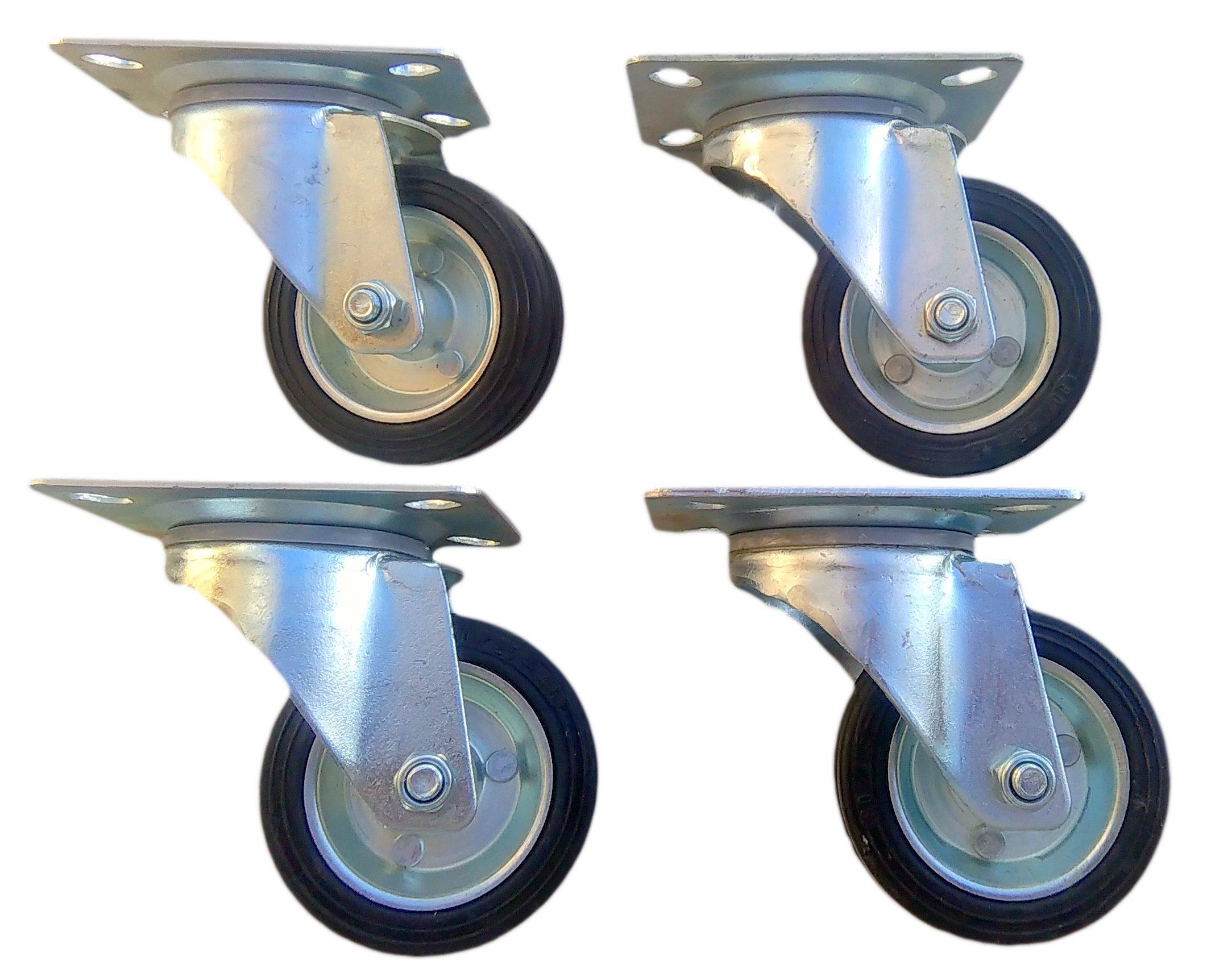 Koleso FI 100mm kolesové kolesové vozíky Trolley Set 4 SZ
