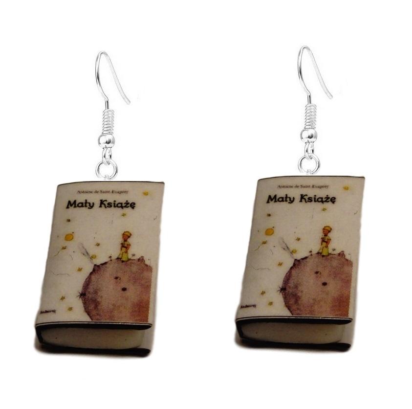 Kolczyki Mały Książę, mini książki
