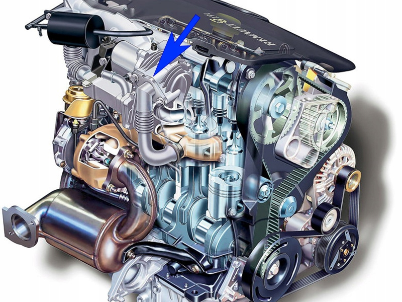21. Zaślepka EGR Renault 1.9 dCi F9Q 90 KM 120 KM