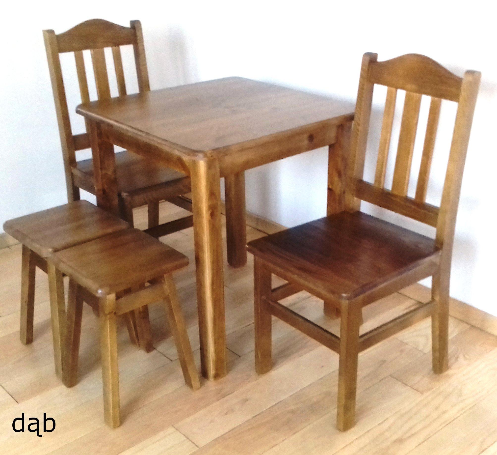 SOLIDNY stół 60x60 stolik kuchenny ława drewniana Szerokość mebla 59.99 cm
