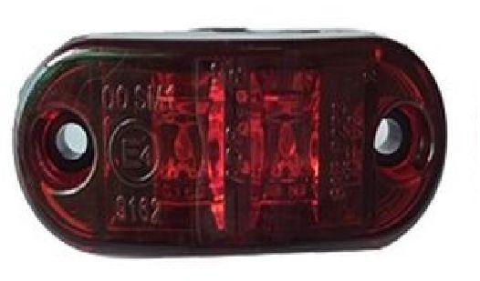 лампа габаритный 2 led led красная obrysówka