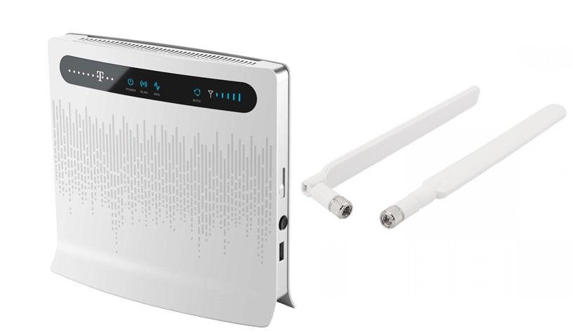 МАРШРУТИЗАТОР Huawei B593 LTE II 4G 2x АНТЕННЫ ru МЕНЮ