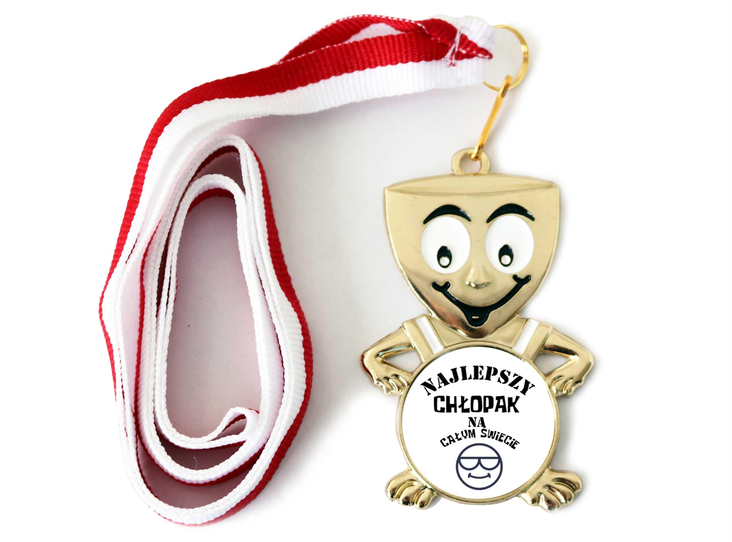 Medal Usmieszek Prezent Dzien Chlopaka Szkola 7533131674 Allegro Pl
