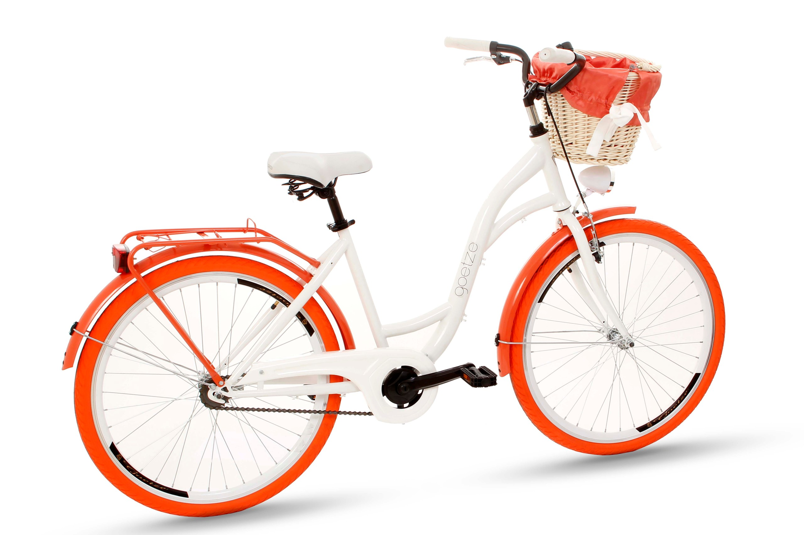 Dámsky mestský bicykel Goetze COLORS 26 košík!  Dodatočná kompletácia, stojan, blatníky, kôš, osvetlenie, noha, kryt reťaze