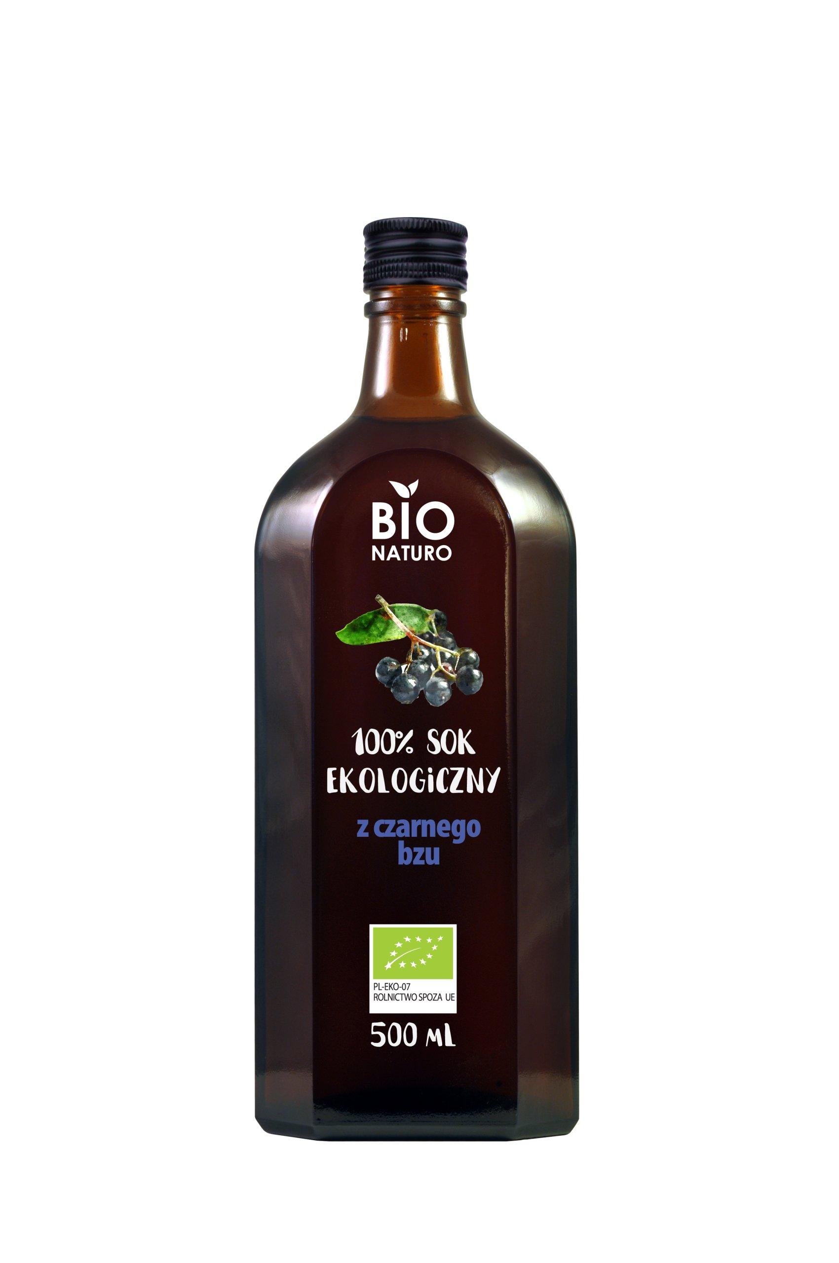 Sok Z Czarnego Bzu 100 Bio 500ml Bionaturo 6680284600 Allegro Pl