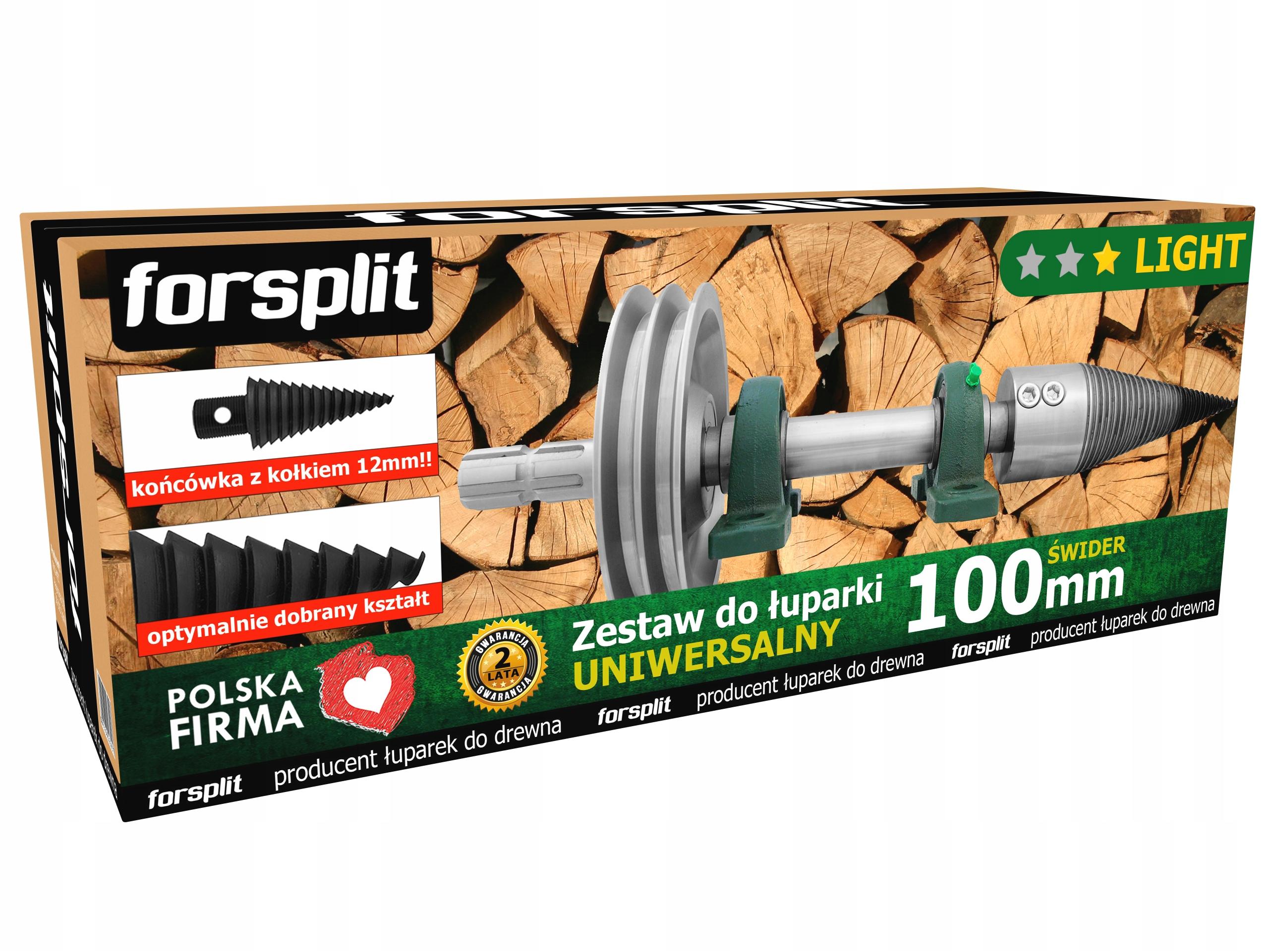 Drevený Splitter 100mm Wom s kolesom