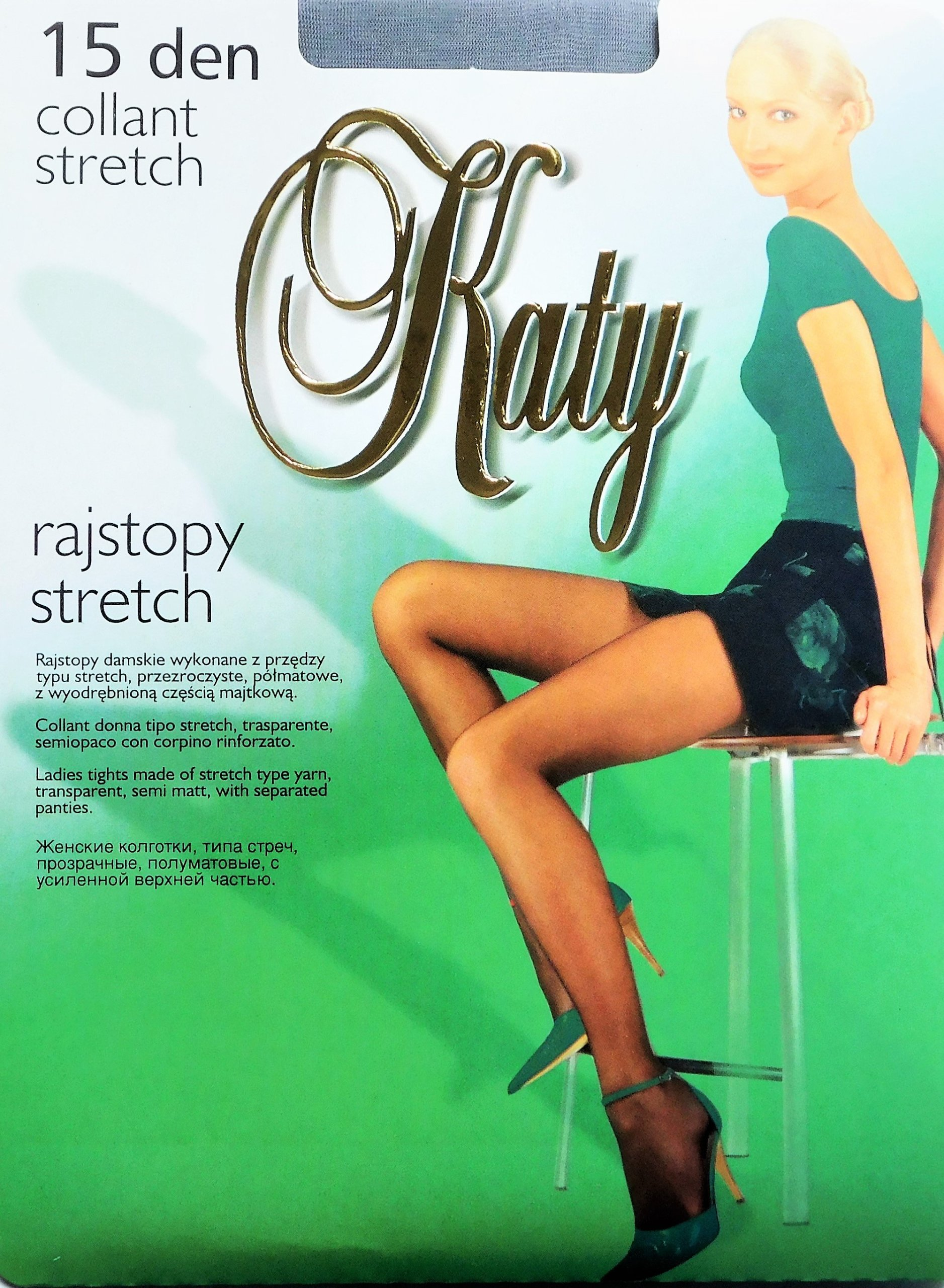 Katy Stretch 15den cienkie półmatowe kolory r.2