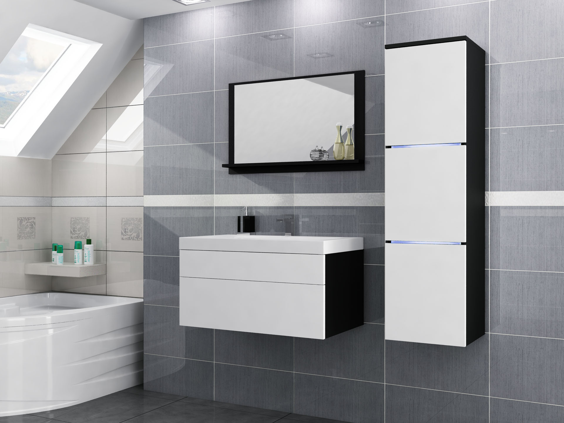 łazienka Biała Nowoczesna Mebleumywalka 7022352259