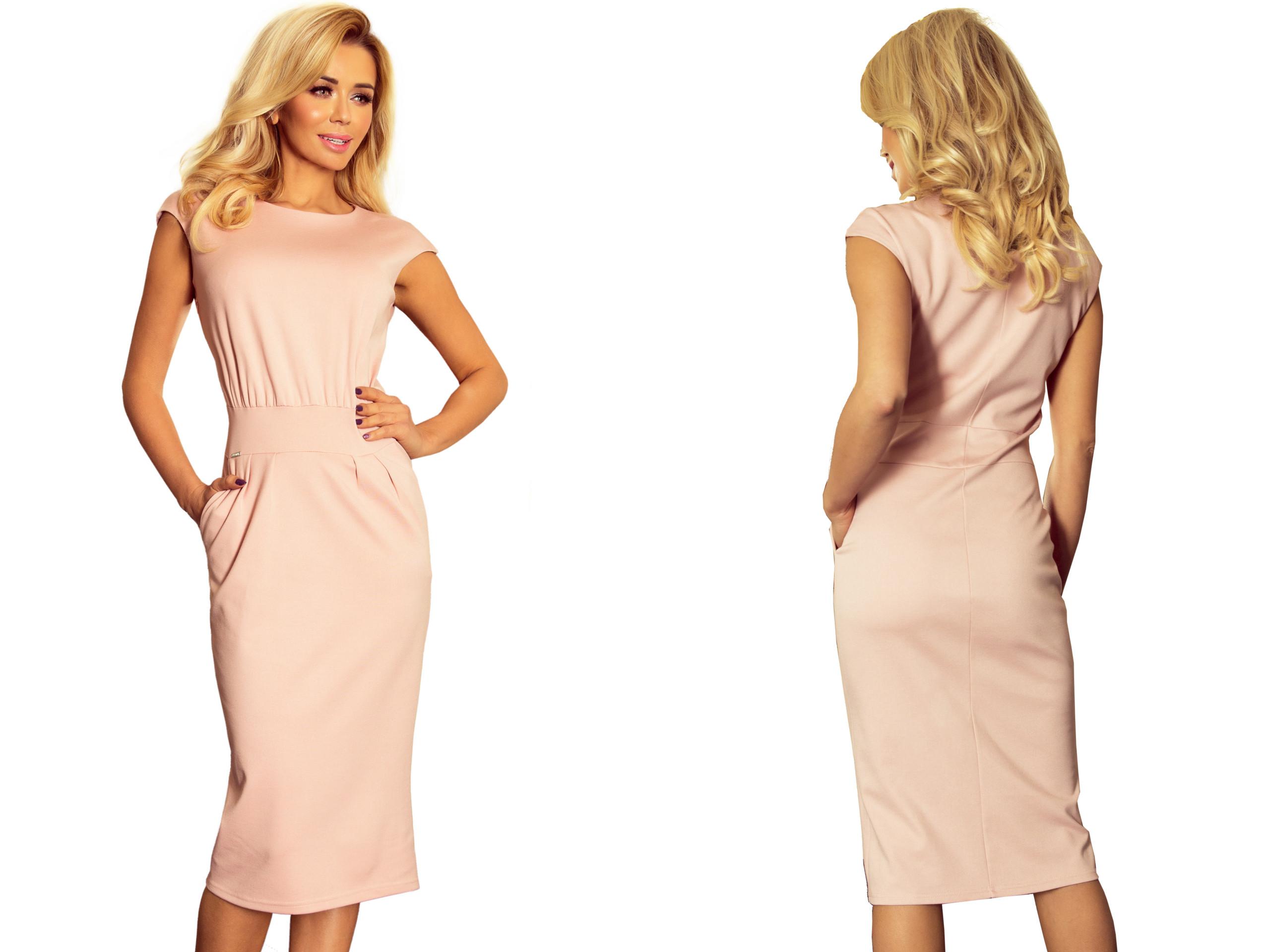1d0ed249cb ELEGANCKA Sukienka NA WESELE KOMUNIE 144-6 S 36 7373480537 - Allegro.pl