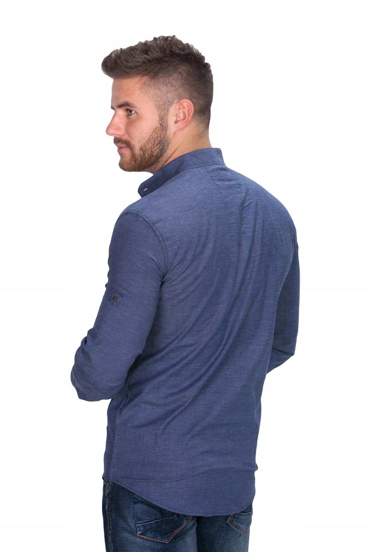Koszula męska stójka TC 1 fashionmen2 rozm. M 7619181332  tbJ8W
