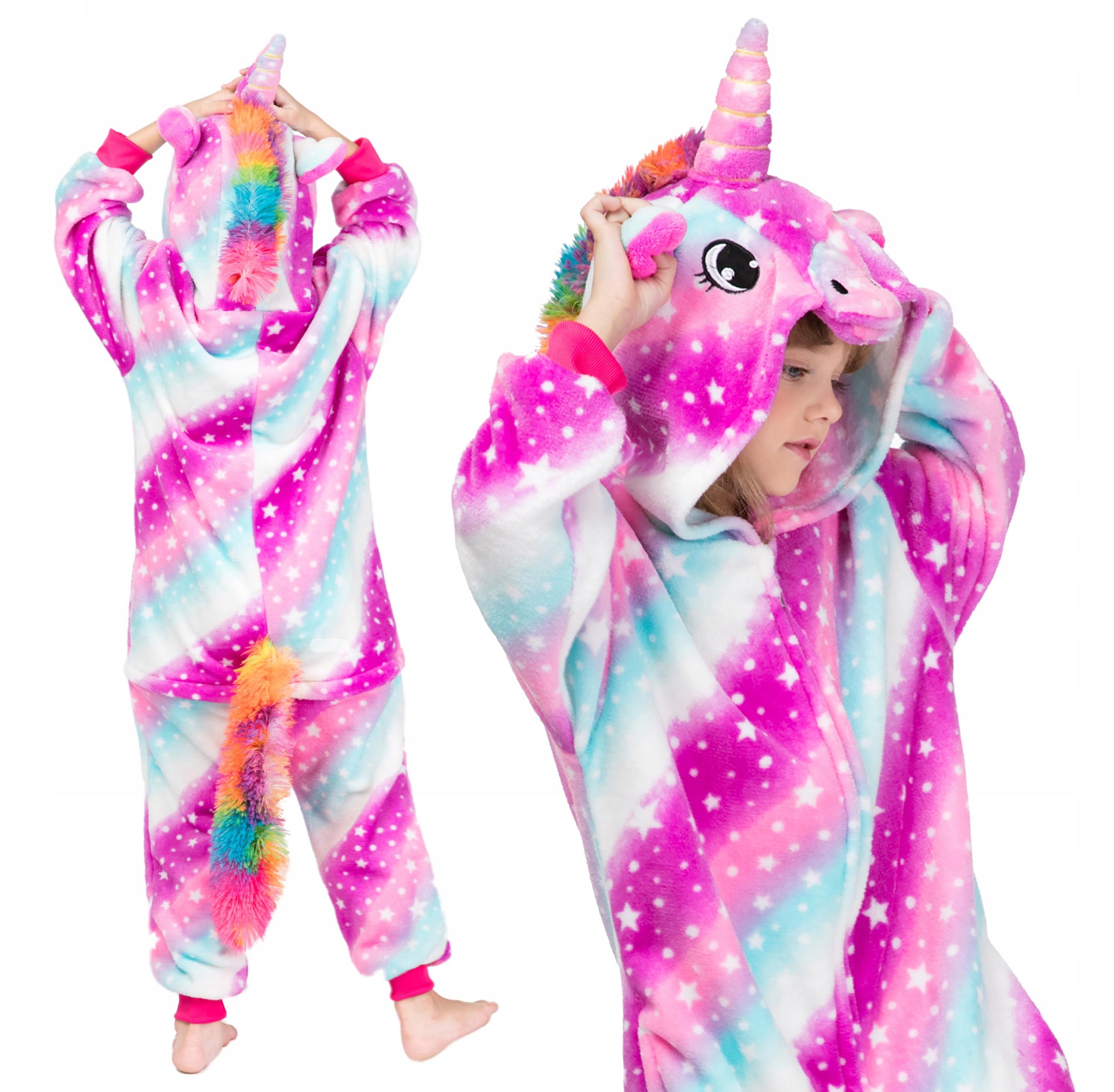 UNICORN Galaxy Пижама Детская Kigurumi 134 140