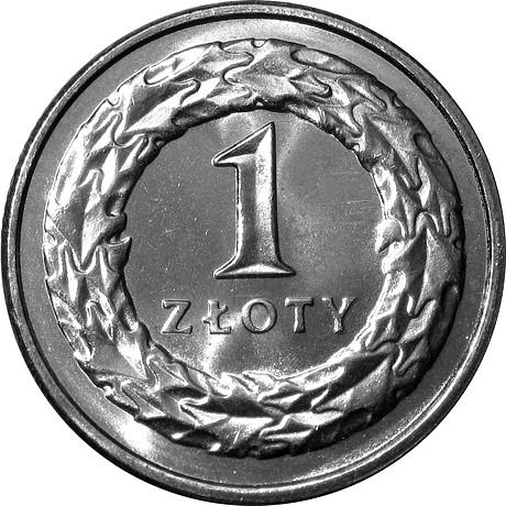 Монета 1 злотый 1993 г. из мешка или рулона