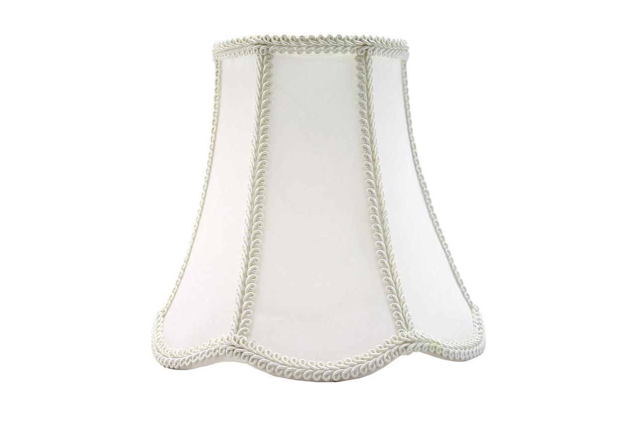 Klosz Abażur Retro Roma Biały/Biały 25,5x50x33 cm