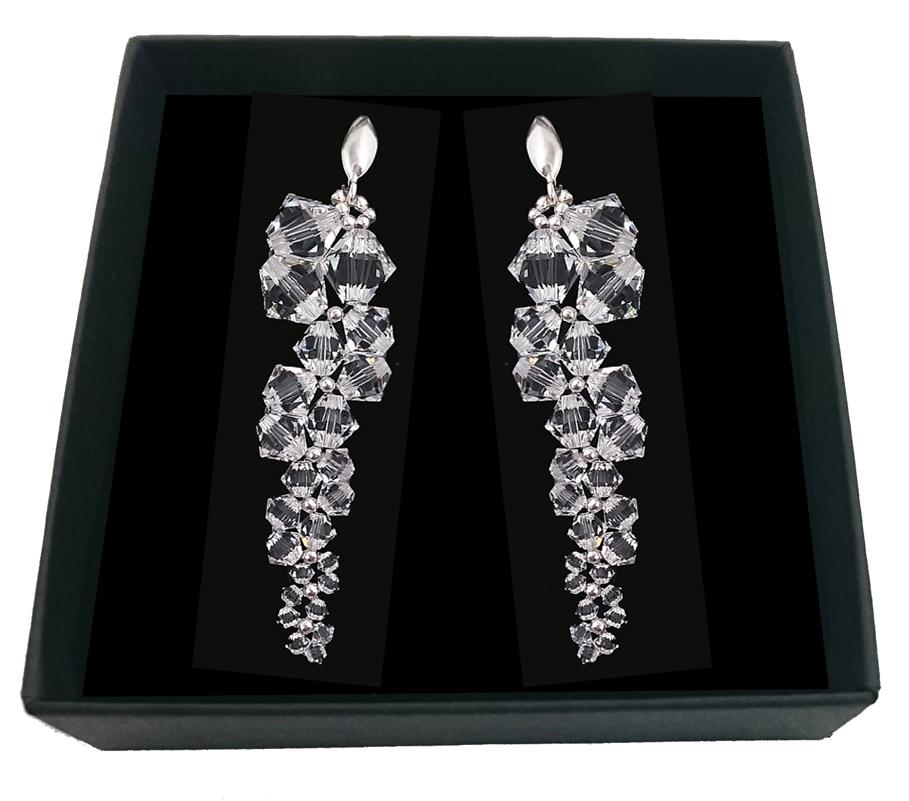 Item Bridal earrings SWAROVSKI crystals ARTEO 1994