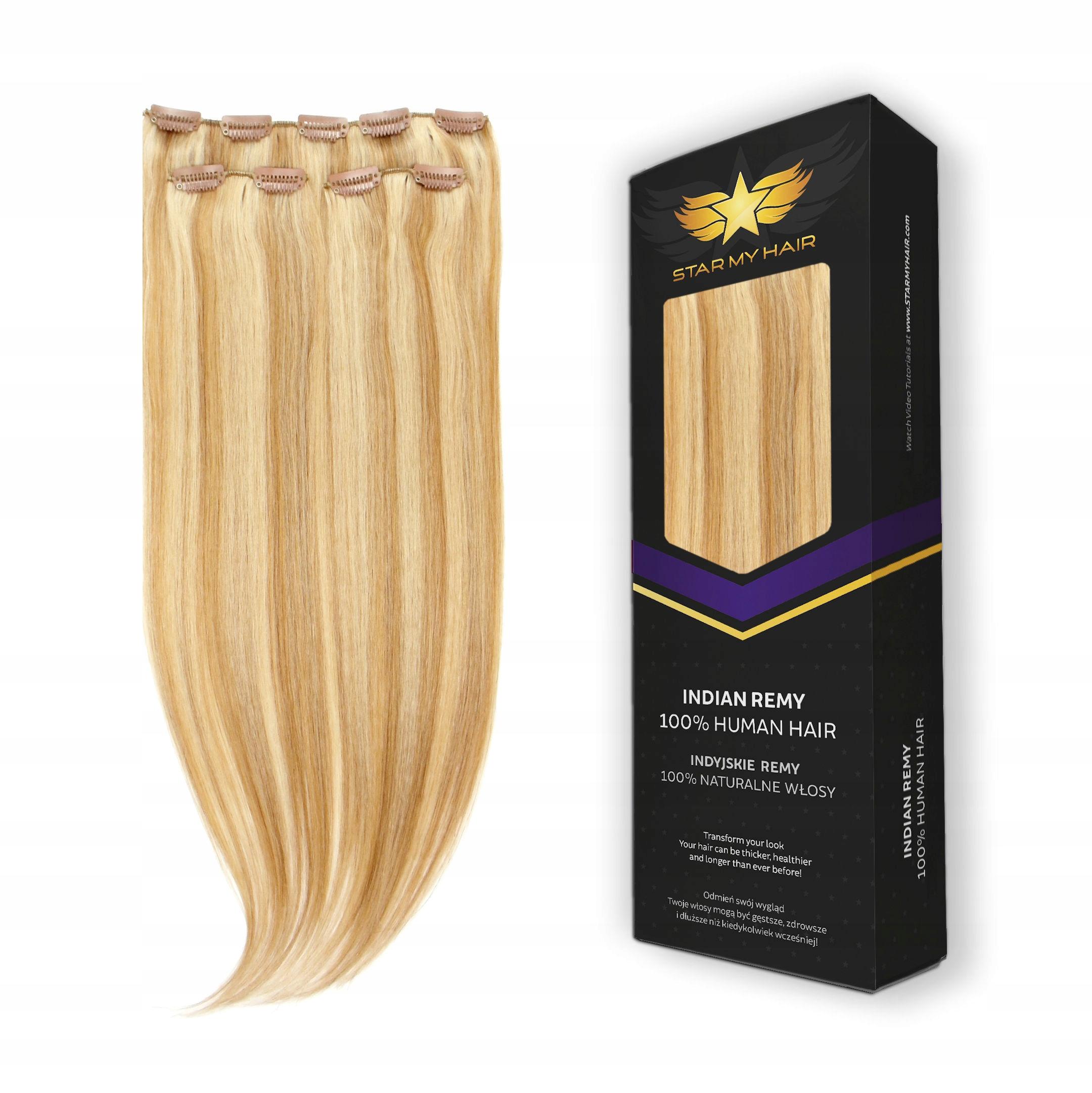 Волосы прикреплены 100% натуральный CLIP IN ON допинки