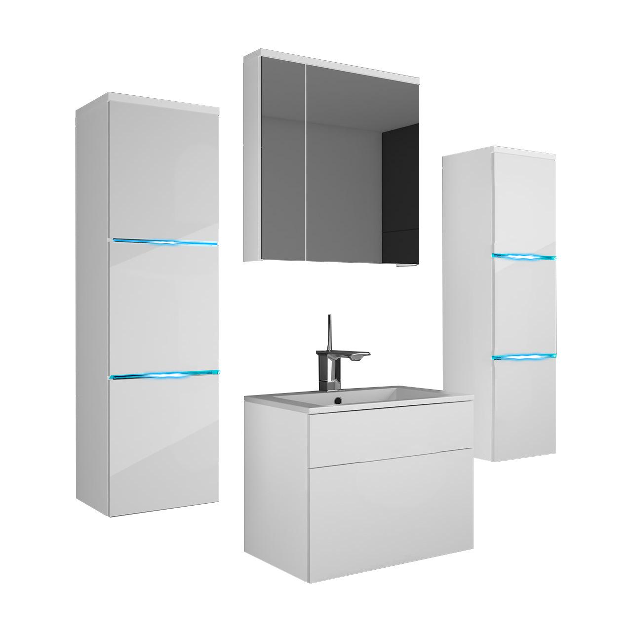 Nábytok pre kúpeľňa ORTON BIELY LESK prívesok